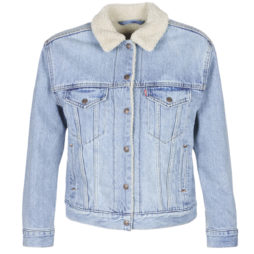 Giacca in jeans donna Levis  EX-BF SHERPA TRUCKER  Blu Levis 5400816300465