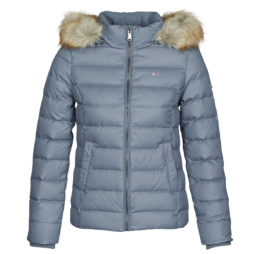 Piumino donna Tommy Jeans  TJW BASIC HOODED DOWN JACKET  Blu Tommy Jeans 8720111082611