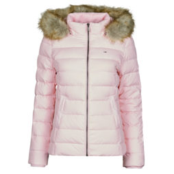 Piumino donna Tommy Jeans  TJW BASIC HOODED DOWN JACKET  Rosa Tommy Jeans 8720112572494