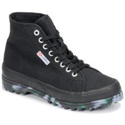 Sneakers alte donna Superga  2341 ALPINA MARBLEGUM  Nero Superga 8033038341182
