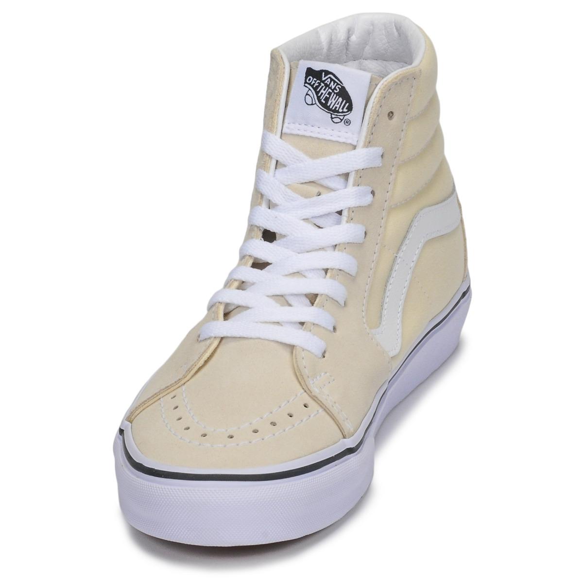 Sneakers alte donna Vans SK8-HI Beige