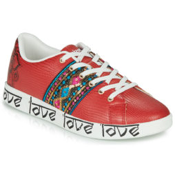 Sneakers basse donna Desigual  COSMIC EXOTIC INDIAN  Rosso Desigual 8434486970694