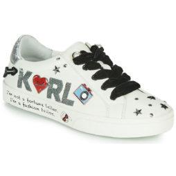 Sneakers basse donna Karl Lagerfeld  SKOOL JEWEL BADGE LO  Bianco Karl Lagerfeld 5056272319611
