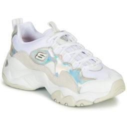 Sneakers basse donna Skechers  D'LITES 3.0 LIQUID SILVER  Bianco Skechers 193642116892