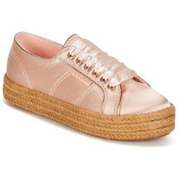 Sneakers basse donna Superga  2730 SATIN COTMETROPE W  Rosa Superga 8054700010977