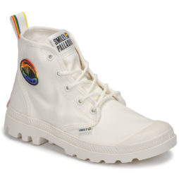 Stivaletti donna Palladium  PAMPA SMILEY PRIDE  Bianco Palladium 3610942849758