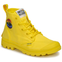 Stivaletti donna Palladium  PAMPA SMILEY PRIDE  Giallo Palladium 3610942850136