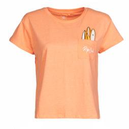 T-shirt donna Rip Curl  SURFBOARD POCKET TEE  Arancio Rip Curl 9353970507651