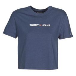 T-shirt donna Tommy Jeans  LINEAR LOGO  Blu Tommy Jeans 8719861011118