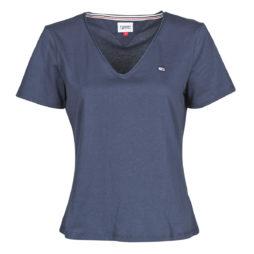 T-shirt donna Tommy Jeans  TJW SLIM JERSEY V NECK  Blu Tommy Jeans 8720112664298