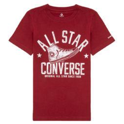 T-shirt ragazzo Converse  9CA866  Rosso Converse 677838633344