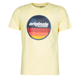 T-shirt uomo Jack   Jones  JORVENTURE  Giallo Jack   Jones 5714508784205
