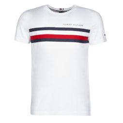 T-shirt uomo Tommy Hilfiger  GLOBAL STRIPE TEE  Bianco Tommy Hilfiger 8720111281946