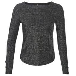 T-shirts a maniche lunghe donna Only  ONLASTA  Nero Only 5714504959157
