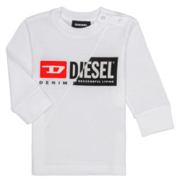 T-shirts a maniche lunghe ragazzo Diesel  TDIEGOCUTY  Bianco Diesel 8053284154855