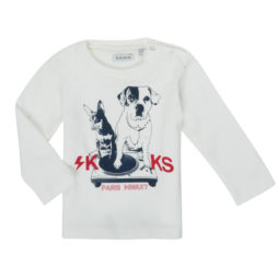 T-shirts a maniche lunghe ragazzo Ikks  XR10021  Bianco Ikks 3605443206551