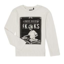 T-shirts a maniche lunghe ragazzo Ikks  XR10123  Bianco Ikks 3605443218097