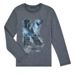 T-shirts a maniche lunghe ragazzo Ikks  XR10203  Grigio Ikks 3605443253333