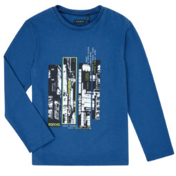 T-shirts a maniche lunghe ragazzo Ikks  XR10243  Blu Ikks 3605443253692