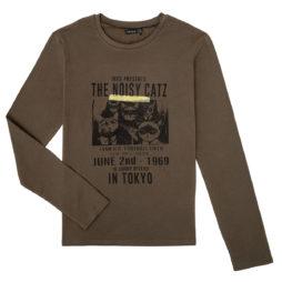 T-shirts a maniche lunghe ragazzo Ikks  XR10313  Marrone Ikks 3605443254316