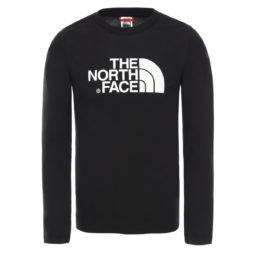 T-shirts a maniche lunghe ragazzo The North Face  EASY TEE LS  Nero The North Face 194112172707