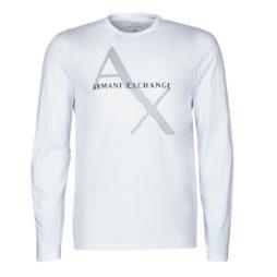 T-shirts a maniche lunghe uomo Armani Exchange  6HZT76  Bianco Armani Exchange 8050941962532