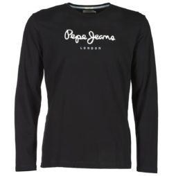 T-shirts a maniche lunghe uomo Pepe jeans  EGGO LONG  Nero Pepe jeans 8433678791895
