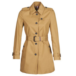 Trench donna Tommy Hilfiger  SINGLE BREASTED TRENCH  Beige Tommy Hilfiger 8720111600532