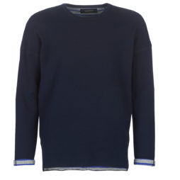 Felpa uomo Scotch   Soda  REVERSIBLE CREW NECK PULL IN SOLID COMBINED WITH STRIPE  Blu Scotch   Soda 8718859303075