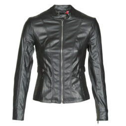 Giacca in pelle donna Guess  TAMMY JACKET  Nero Guess 7618584594308