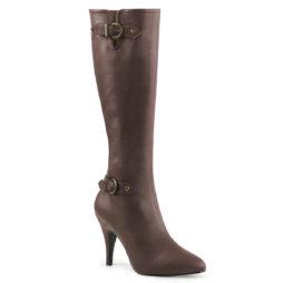 Pleaser Pink Label DREAM-2030 Stivali Donna  Tacco Alto 10 Brown Faux Leather DRE2030/BNPU
