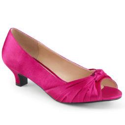 Pleaser Pink Label FAB-422 Decollete Spuntate  Tacco Alto 5 Fucsia in Raso FAB422/HPSA
