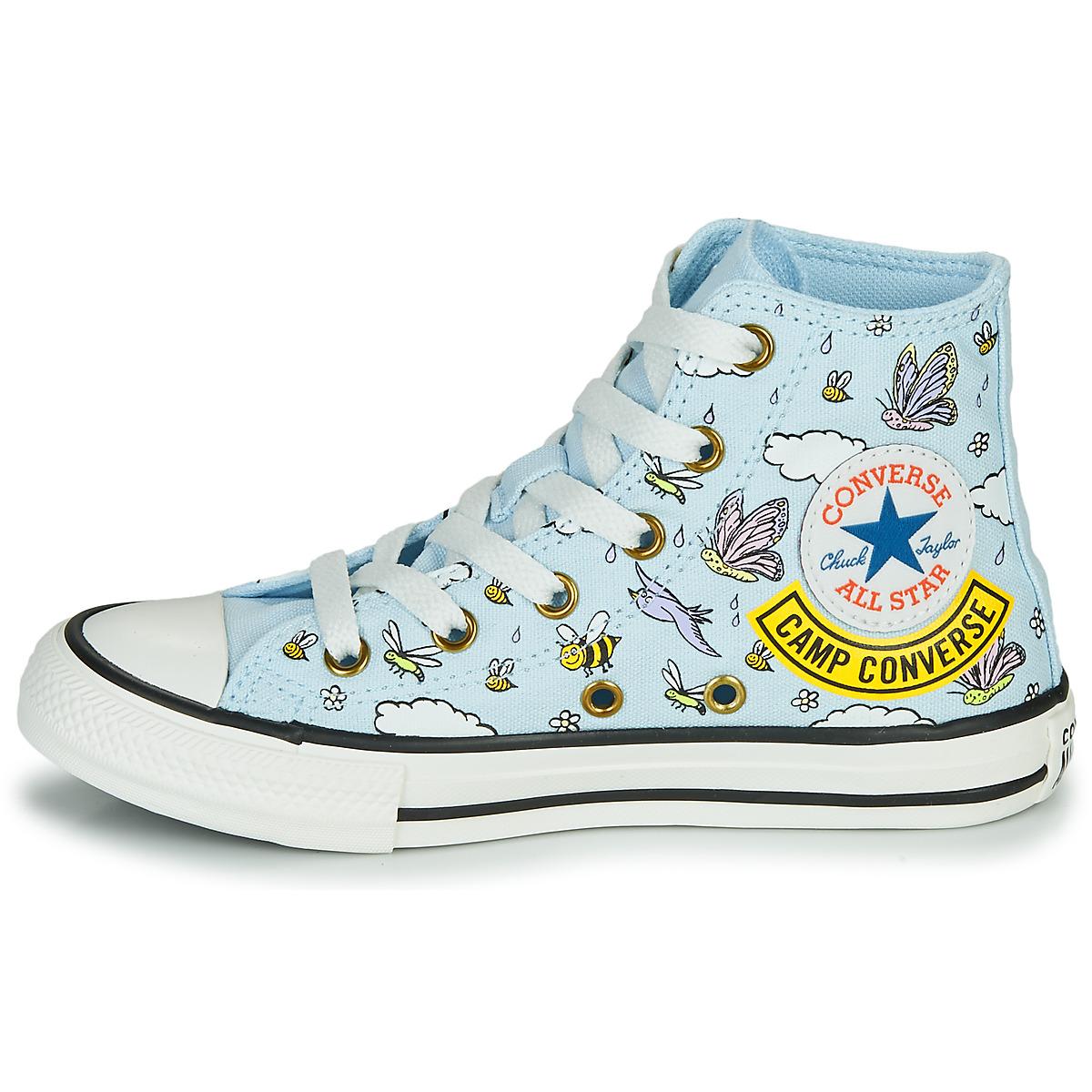 Converse CHUCK TAYLOR ALL STAR CAMP CONVERSE Blu Bambina 16610060 ...