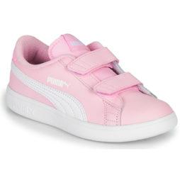 Scarpe bambini ragazza Puma  SMASH  Rosa Puma 4062453142689