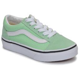 Scarpe bambini ragazza Vans  OLD SKOOL  Verde Vans 194112377164