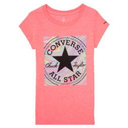 T-shirt ragazza Converse  4CA881  Rosa Converse 677838498684