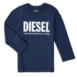 T-shirts a maniche lunghe ragazza Diesel  TJUSTLOGO  Blu Diesel 8053284141169
