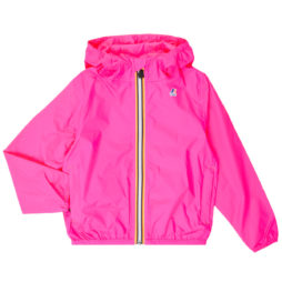 giacca a vento ragazza K-Way  LE VRAI 3.0 CLAUDE KIDS  Rosa K-Way 8054936284203