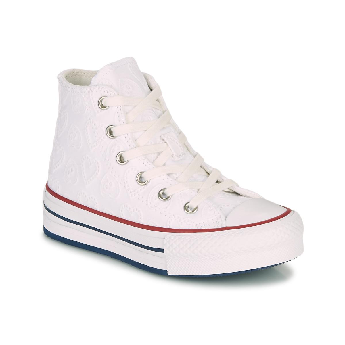 Converse CHUCK TAYLOR ALL STAR LIFT LOVE CEREMONY HI Bianco ...