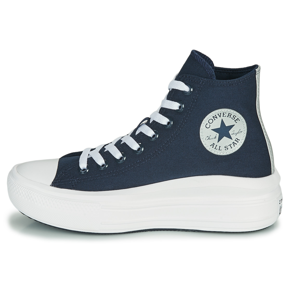 Sneakers alte donna Converse CHUCK TAYLOR ALL STAR MOVE ANODIZED METALS HI Blu